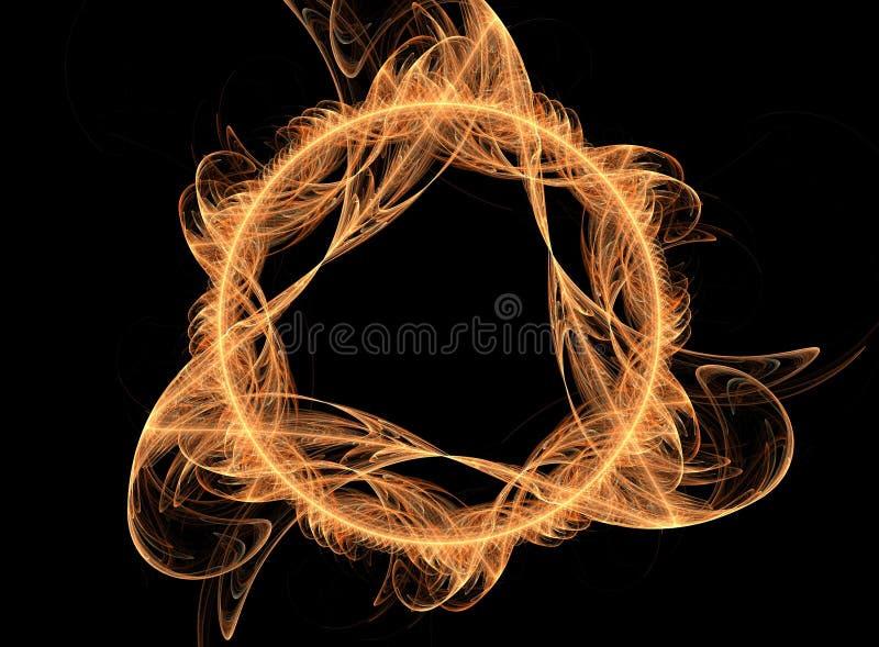 Flama mágica do incêndio - fantasia 3D ilustração do vetor