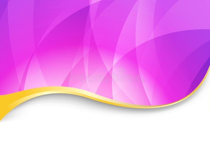 Flama púrpura - fondo ondulado abstracto stock de ilustración