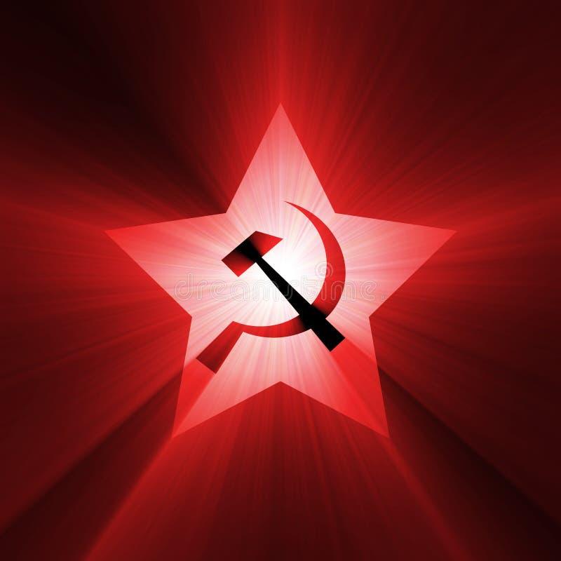 Flama roja del símbolo soviético de la estrella ilustración del vector