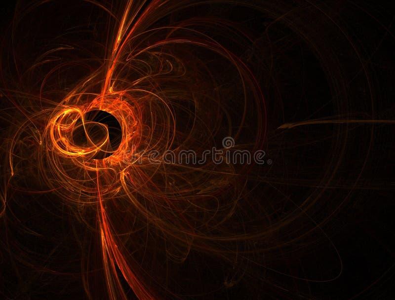 Flama solar anaranjada stock de ilustración