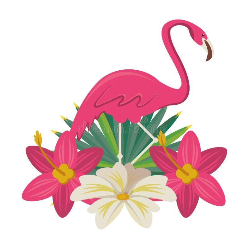 Flamand avec la bande dessinée d'icône de fleur illustration libre de droits