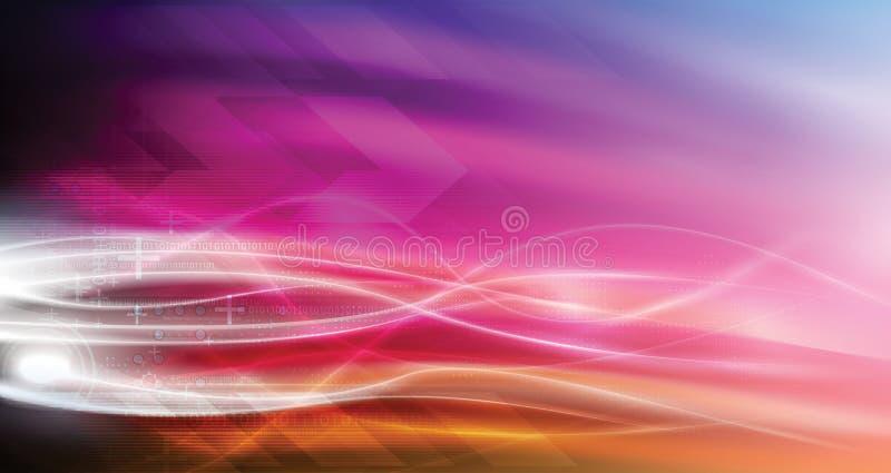 Flamas abstratas altas tecnologia do incêndio   ilustração royalty free