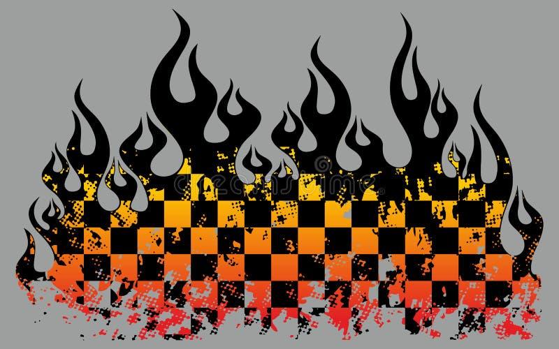 Flamas Checkered ilustração do vetor