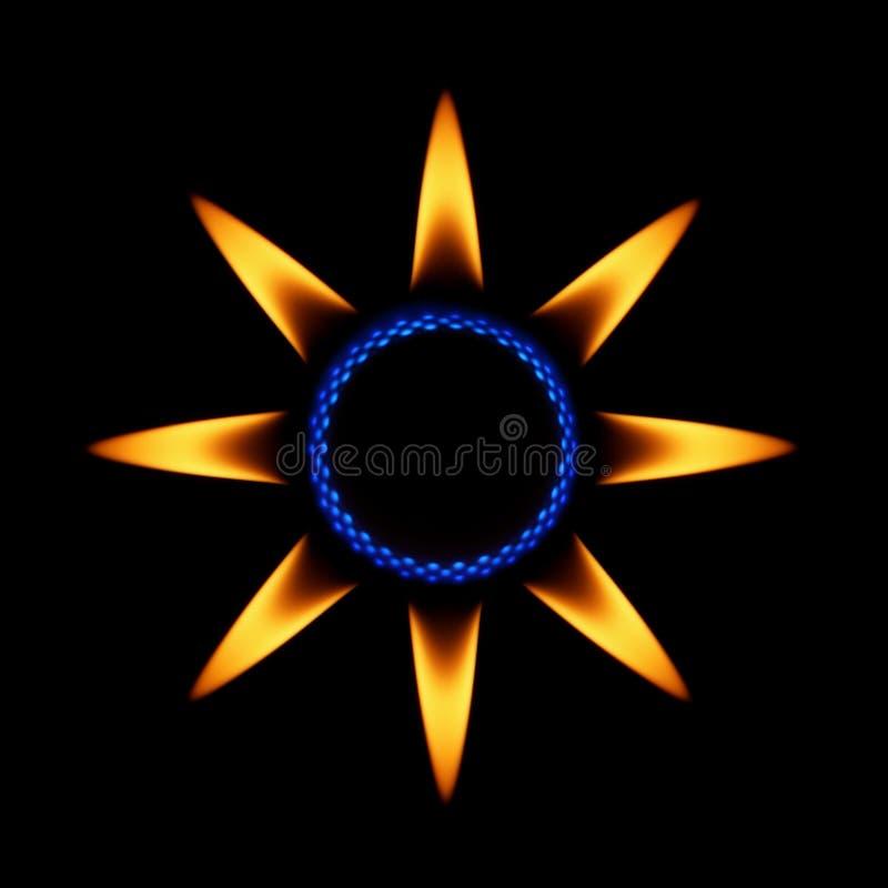 Flamas da estrela ilustração royalty free