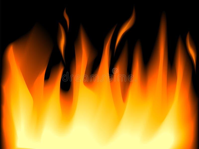 Flamas do incêndio ilustração stock