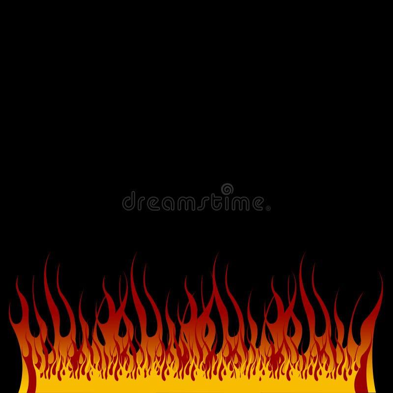 Flamas dos infernos ilustração royalty free