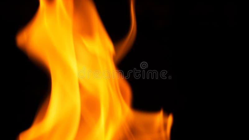 Flambage chaud brouillé du feu de danger image stock