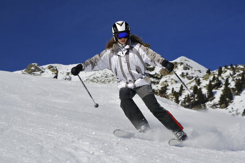 Flambage de ski rapidement image libre de droits