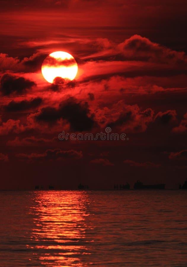 Flambage Sun image stock