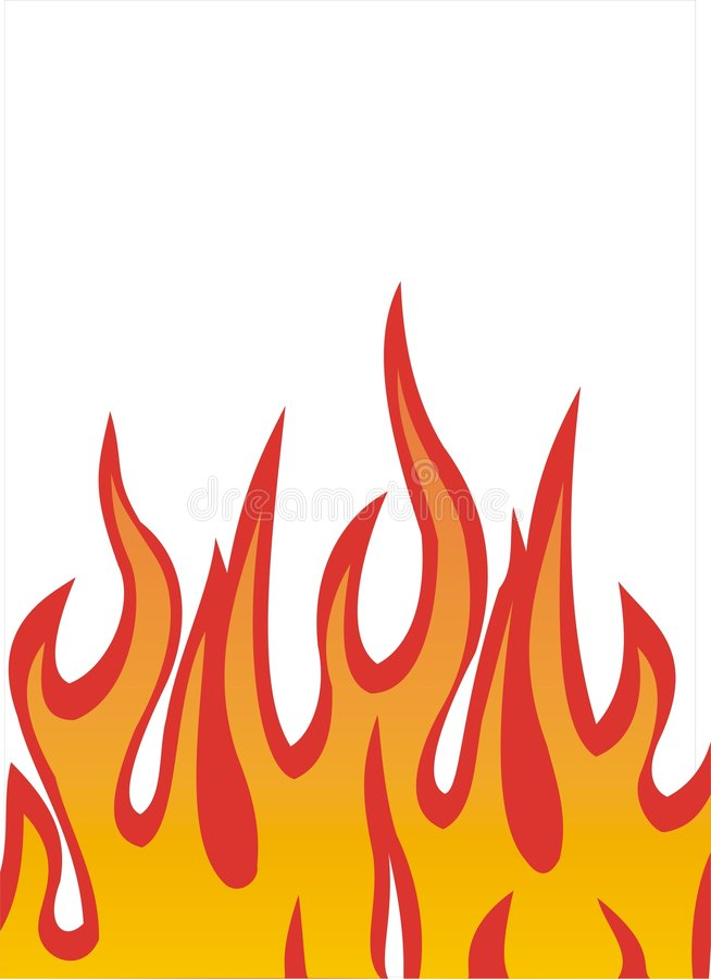 Flambe l'illustration illustration stock