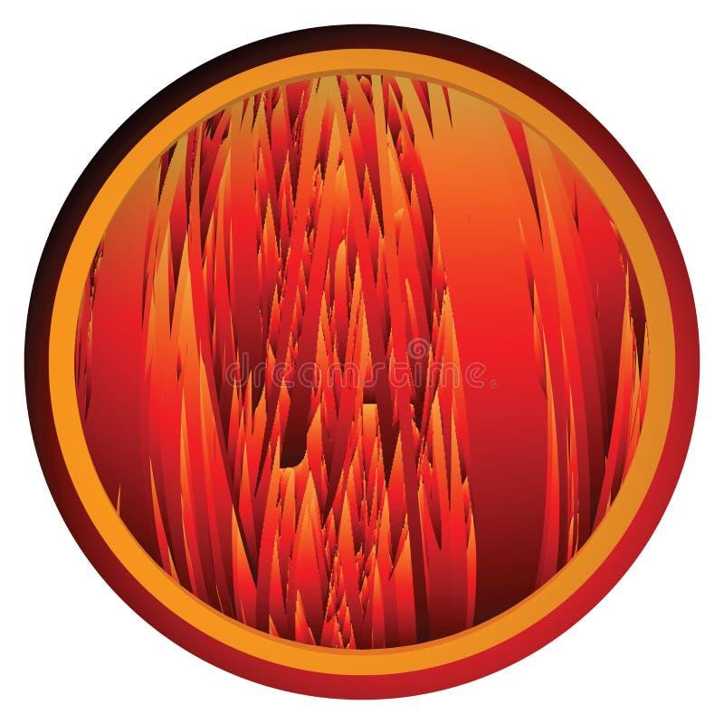 Flambe le bouton de fond illustration de vecteur