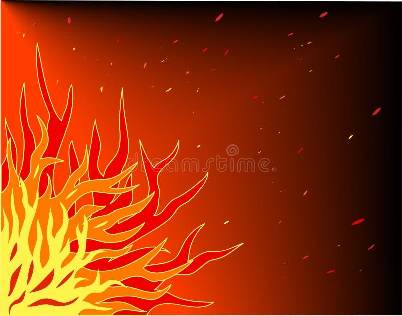 Flamber illustration stock