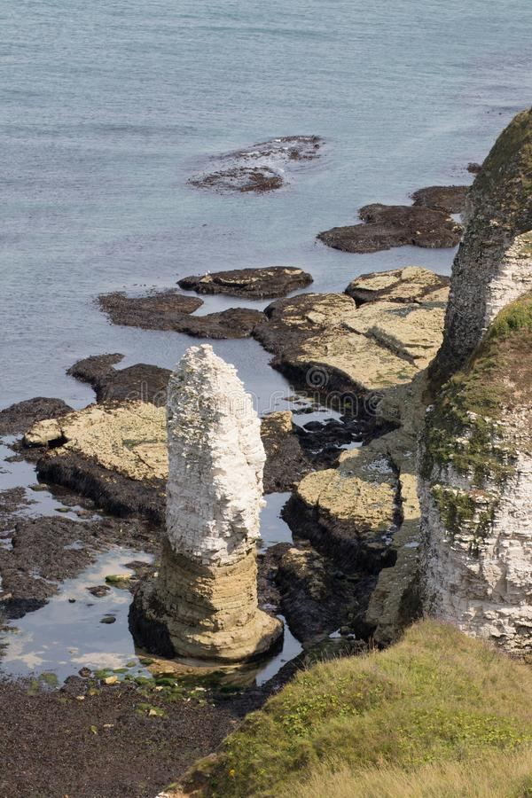 Flamborough Head on the Yorkshire coast stock images