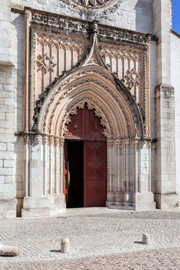 Flamboyant Gothic Portal of the Santo Agostinho da Graca church. royalty free stock photo