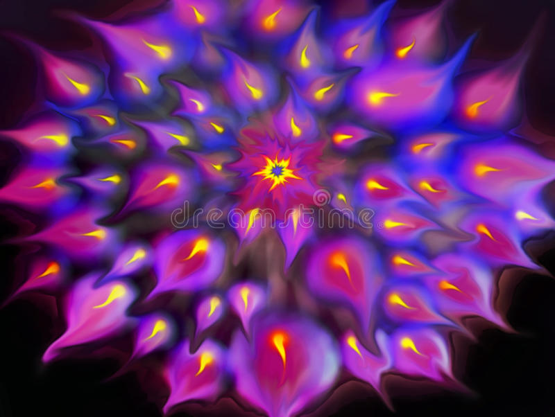 Flame pattern. An background pattern abstract blur of radiating flames royalty free stock images