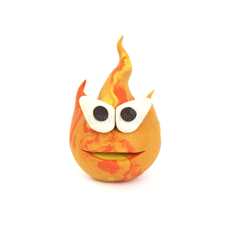 Flame, clay modeling stock photos