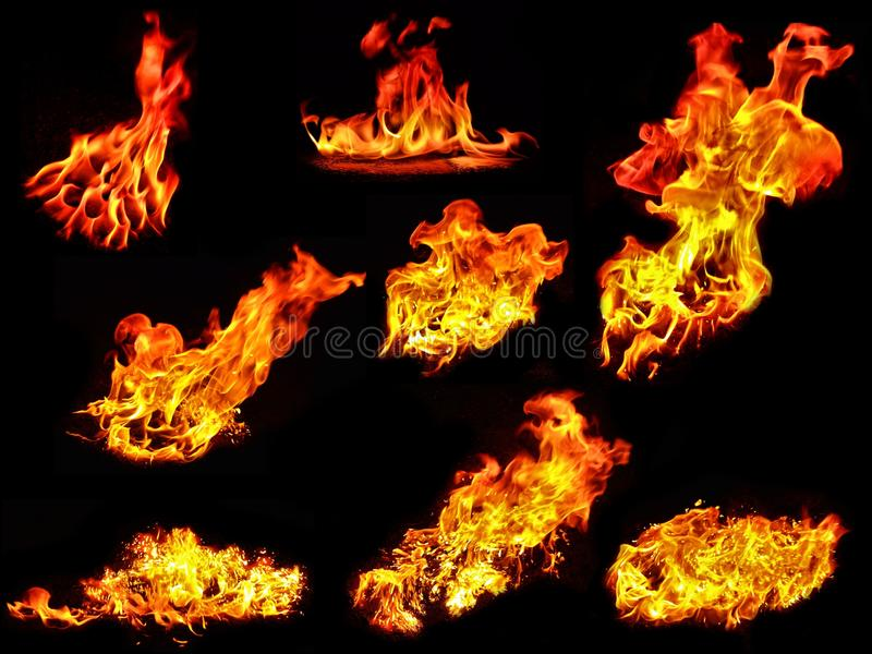 Flame collection royalty free stock image