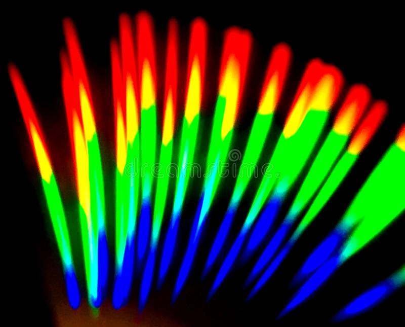 Flame. Colors from a LED light in a CD