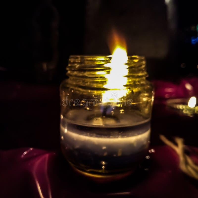 Flame of diya. Fleme of diya on the eve of diwali celebration royalty free stock photography