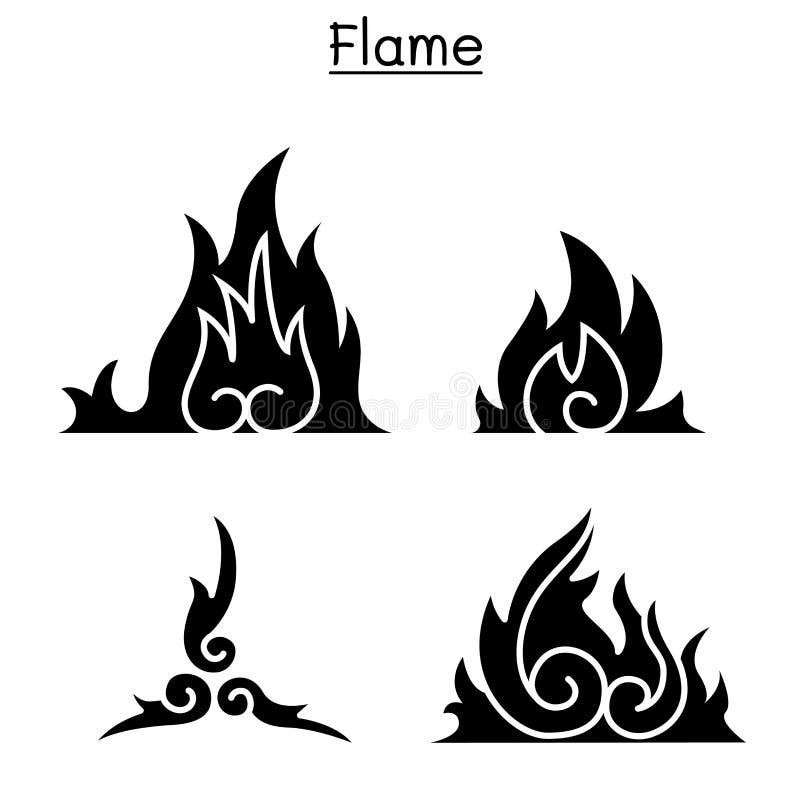 Flame , fire, burn royalty free illustration