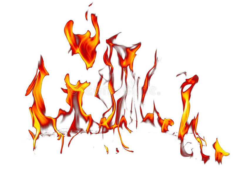 Flame of fire isolated on white background royalty free stock image