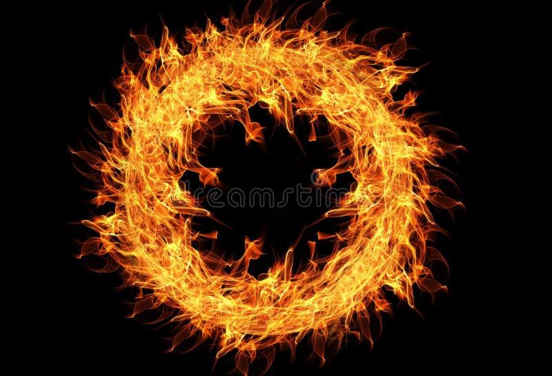Flame, Fractal Art, Circle, Computer Wallpaper royalty free stock photo