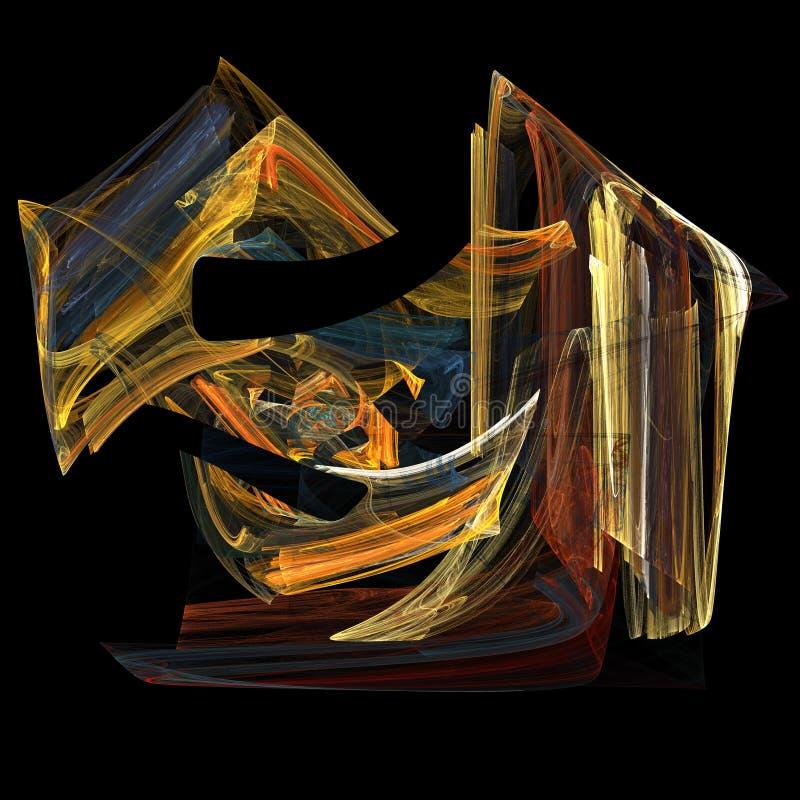 Flame fractal art image stock illustration
