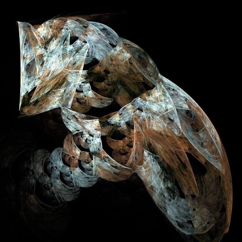 Flame fractal art image of a cat vector illustration