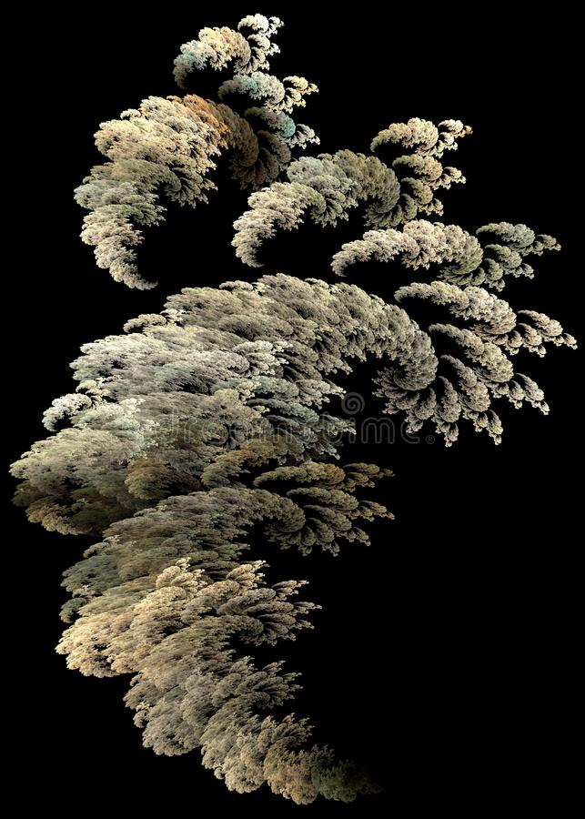 Flame fractal smoke cloud stock images