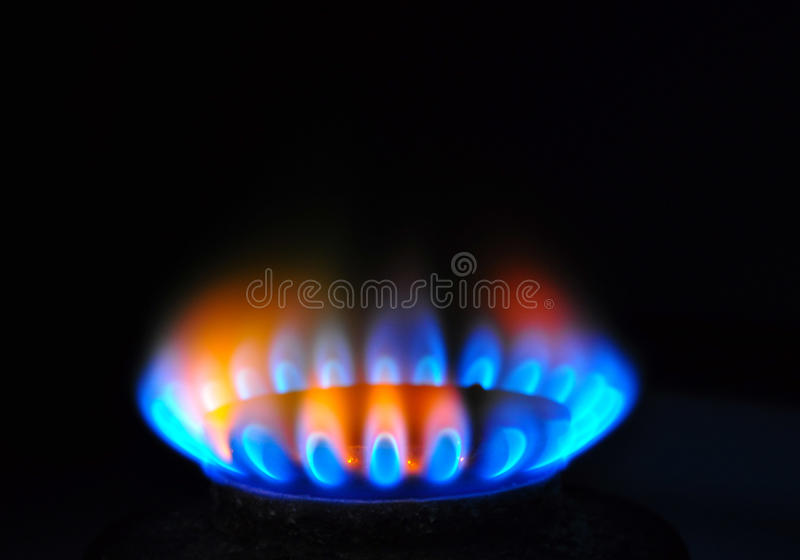Flame gas energy stock photo