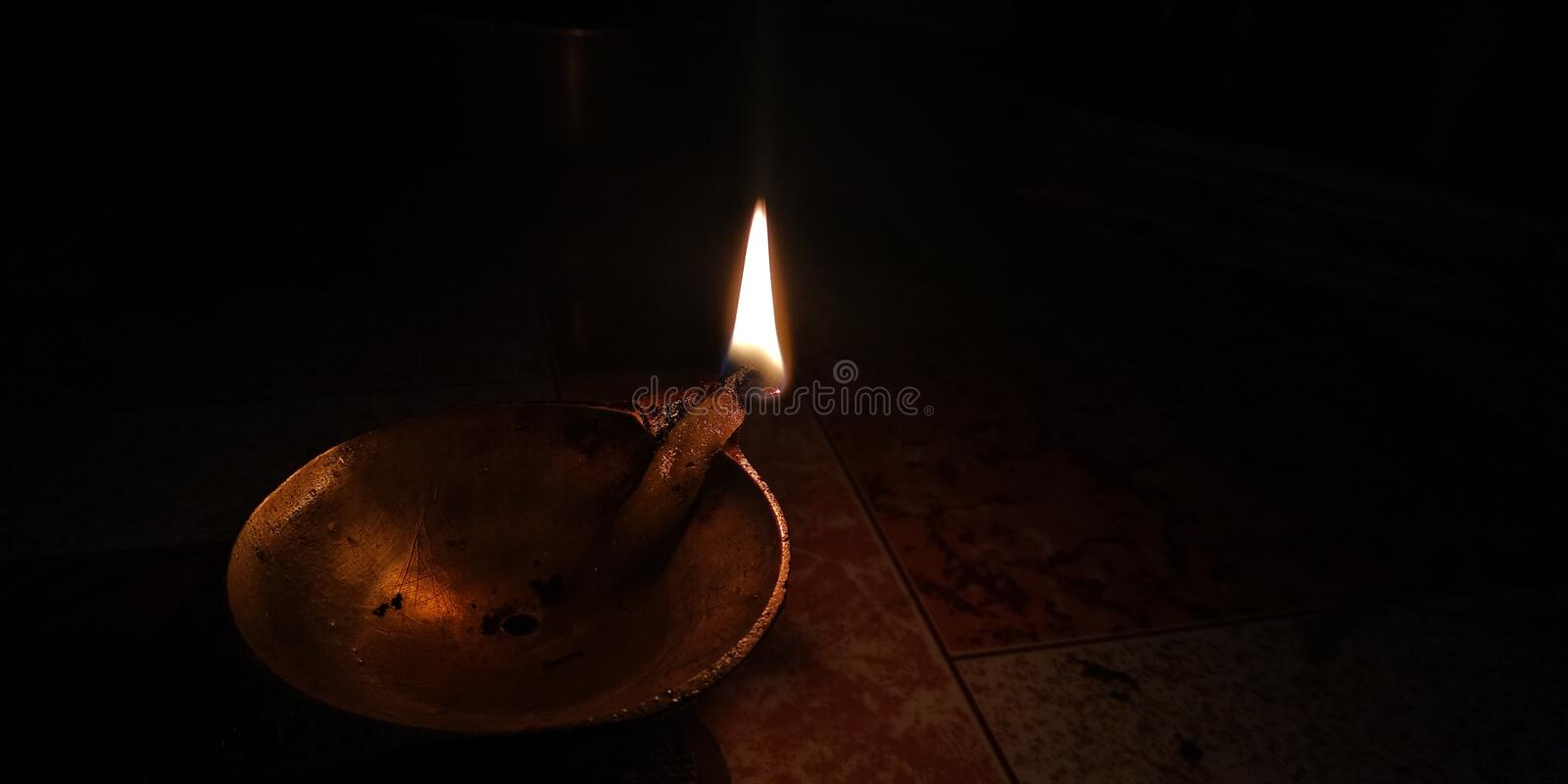 The flame is glowing silently royalty free stock images