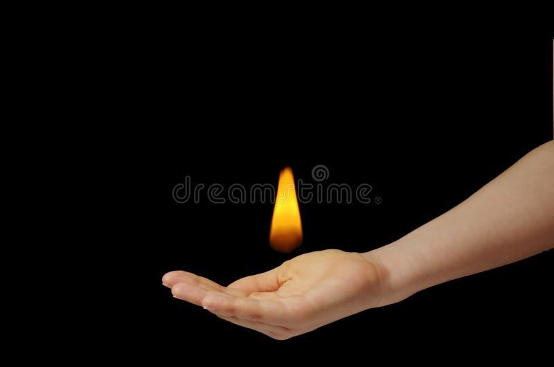 Flame on hand