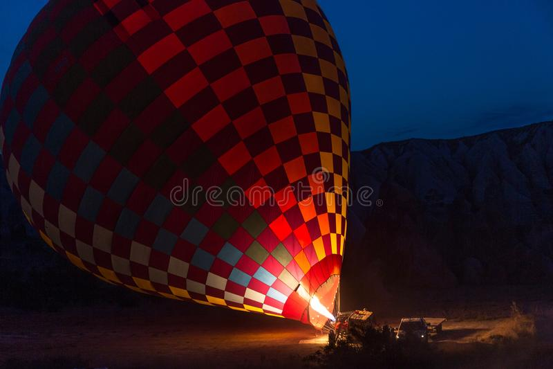 Flame for hot air balloons stock photography