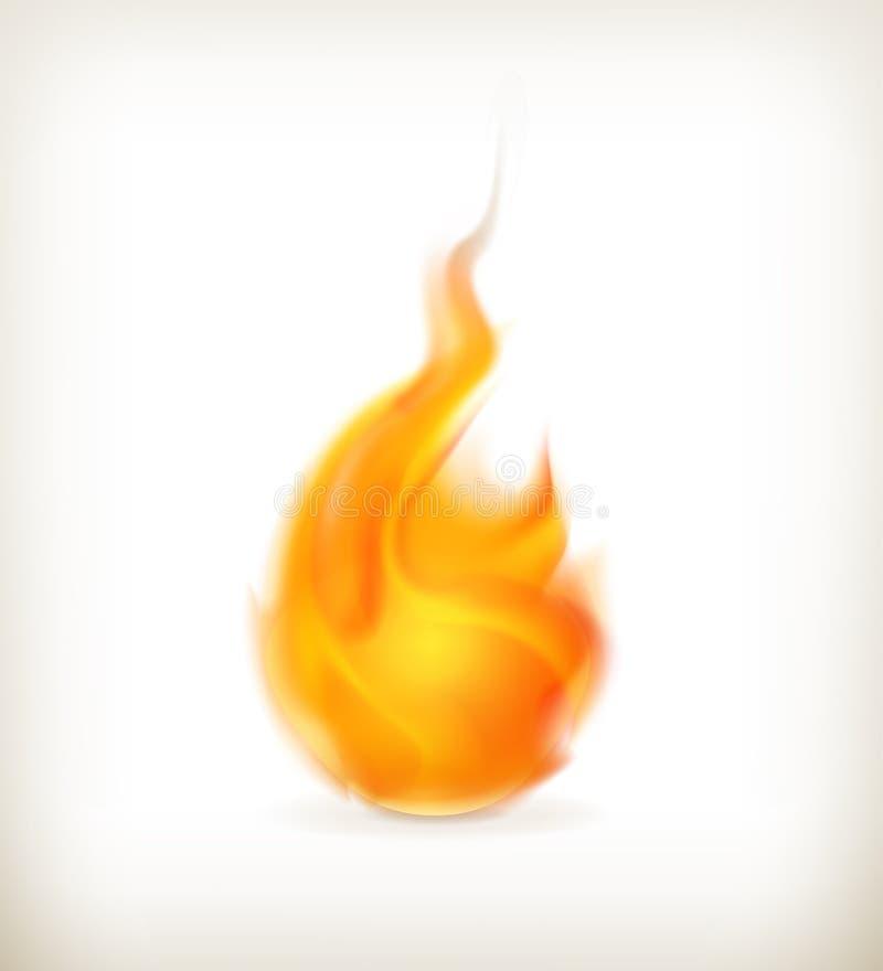 Flame, icon royalty free illustration