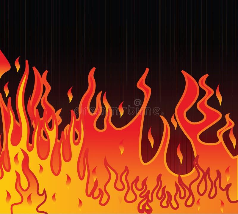 Flame illustration on a black background