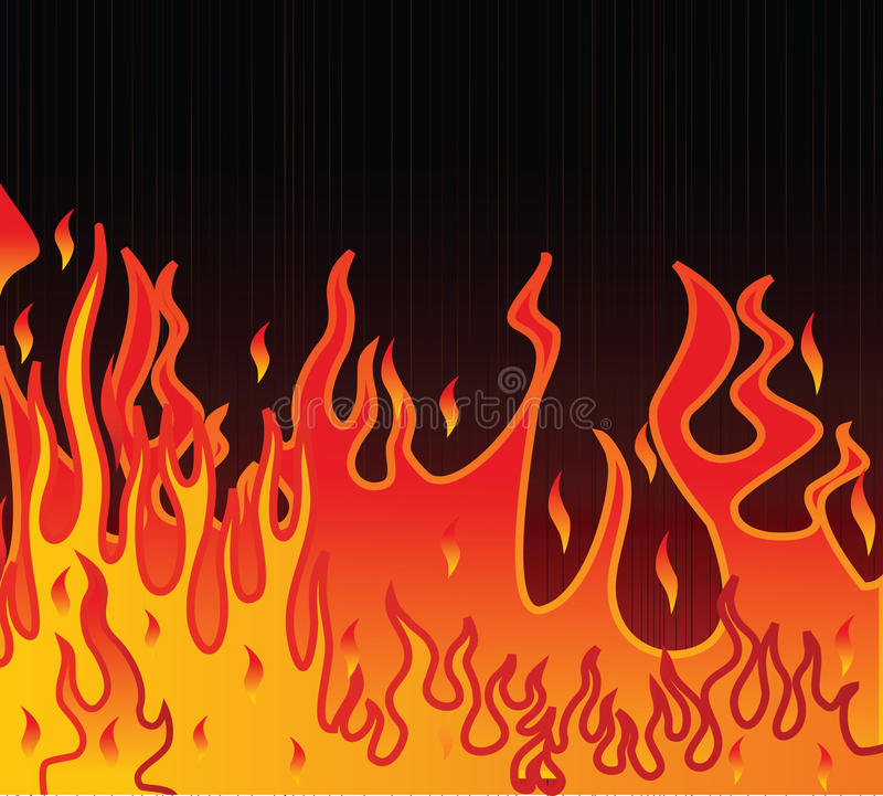 Free Flame Illustration On A Black Background Stock Photo - 17629810