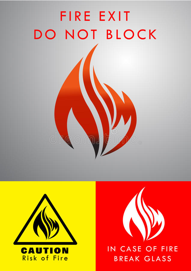 Flame Logo Design. Flame/ Fire logo, template design for business cards, Vector EPS AI Illustrator Vector Graphic attached. Containing cautions: 1)RISK OF FIRE 2 royalty free illustration