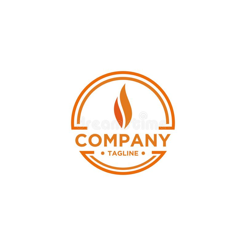 Flame Logo design simple minimalist style royalty free illustration