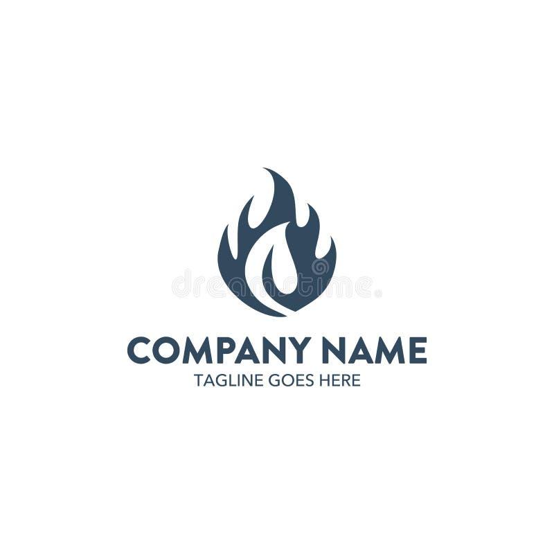 Flame Logo royalty free illustration