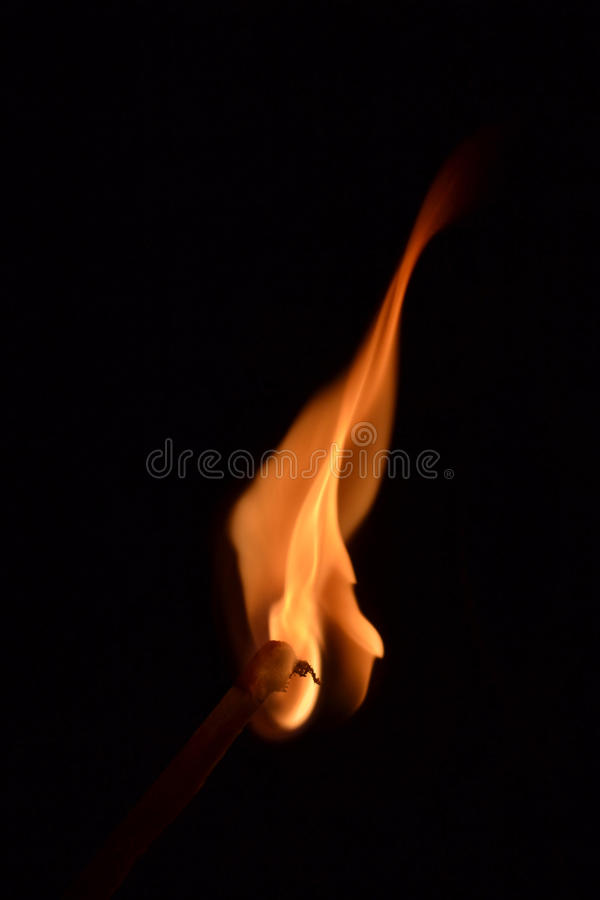 Flame by match stock images