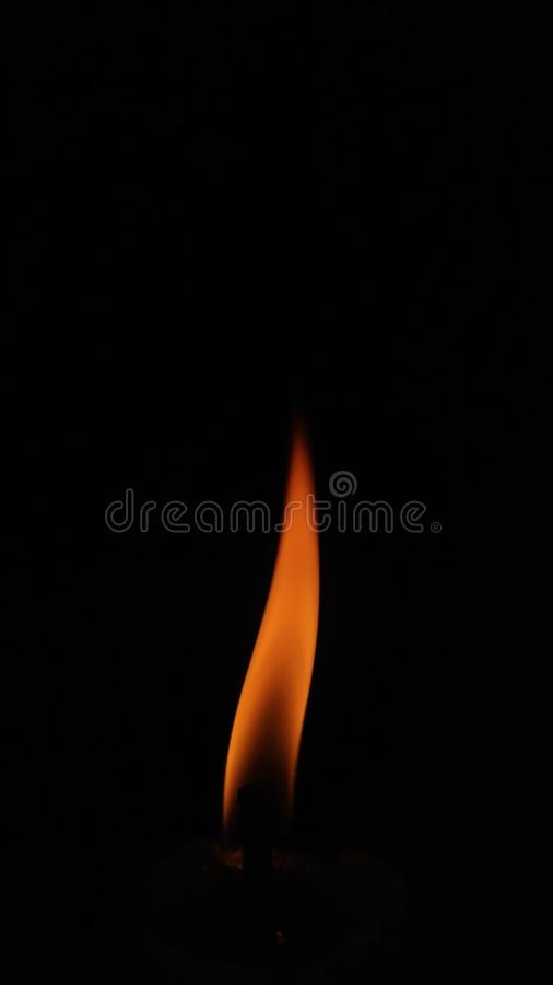 Flame always rises up stock photo