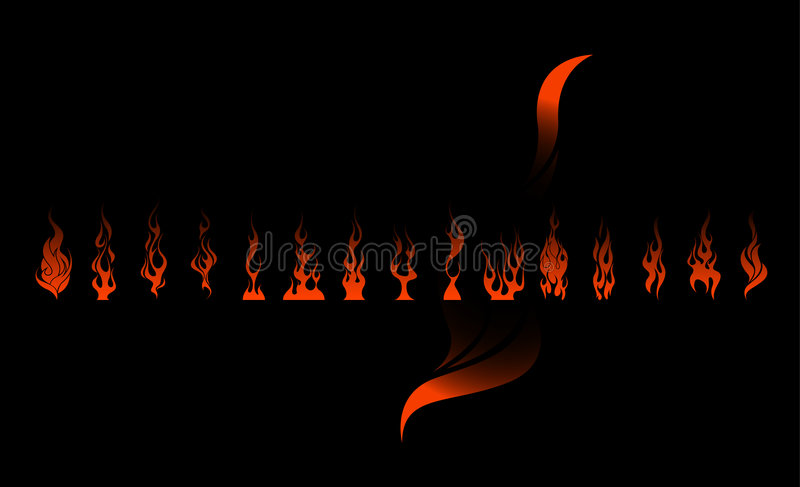 Download Flame Set stock vector. Illustration of energy, fireplace - 8719750