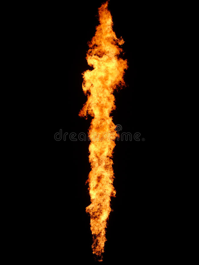 Flame. From an shield gas exploitation site in Oklahoma, USA royalty free stock image