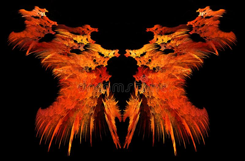 Flame Strange Mirrored Abstract vector illustration