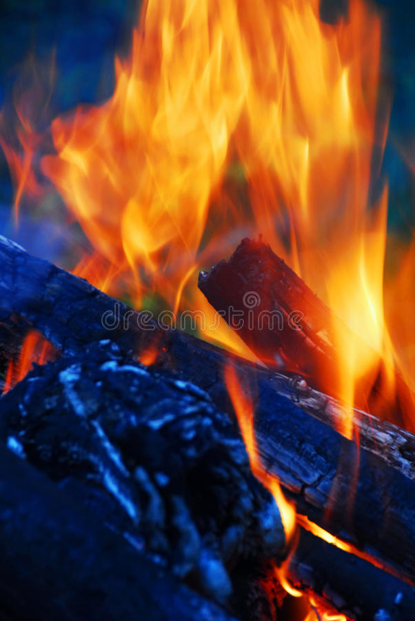 Download Flame Tips In The Fireplace Stock Photo - Image: 13073434