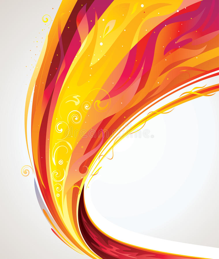 Flame Wave Stock Photography