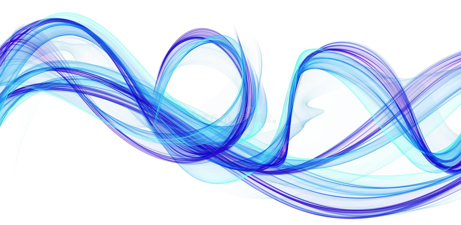 Blue and purple flames vector illustration