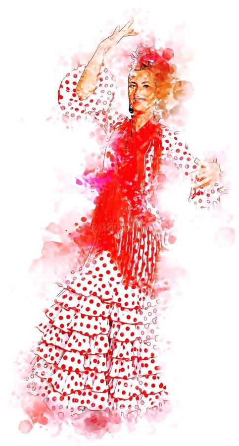 Flamenca иллюстрация вектора