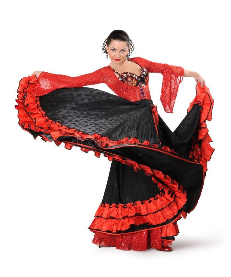flamenco κομψότητας χορευτών ενέ&r στοκ φωτογραφία