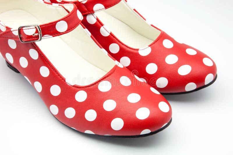 Flamenco παπούτσια χορού στοκ εικόνες